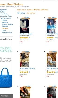 #1 in AA Romance Top 100 Free